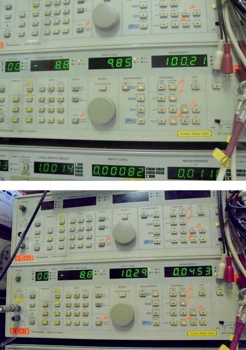 ML2LのSNと歪率の計測値