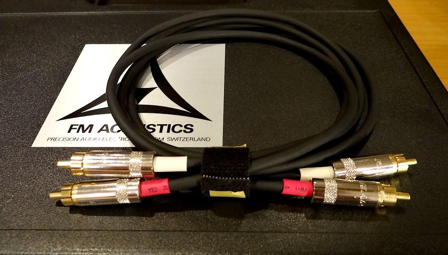 中古 FM ACOUSTICS CA25103ケーブル RCA-RCA 0.8メートル
