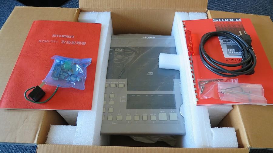 STUDER D730MK2 元箱・専用工具、取説2種(回路図付属)、付属品完備 ステラボックス