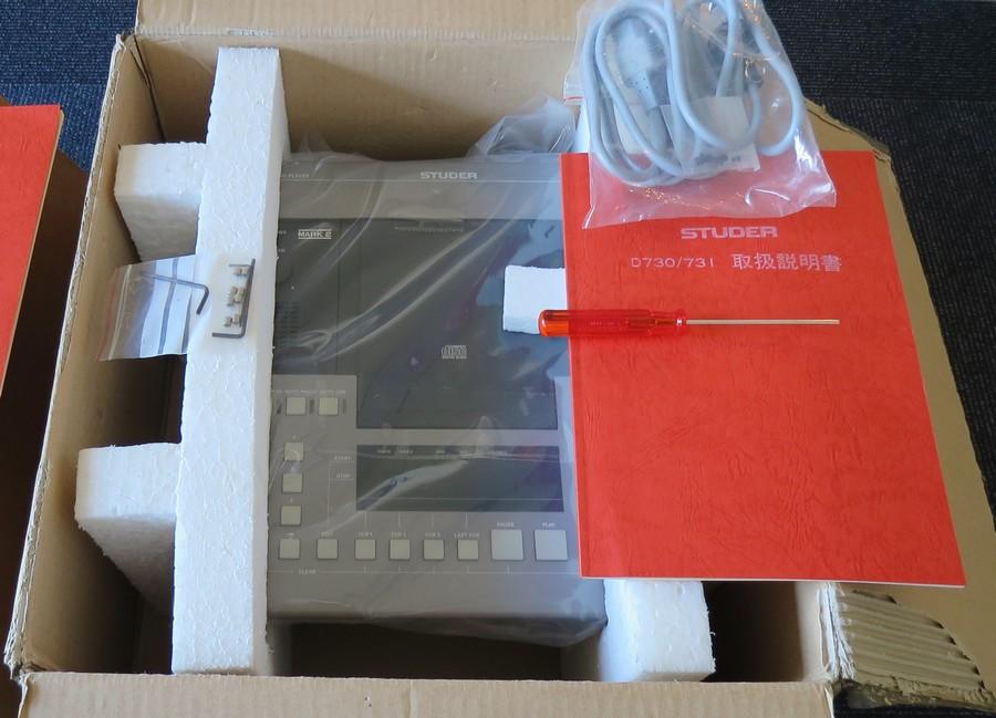 中古 STUDER D730MK2 元箱・専用工具、取説2種(回路図付属)、付属品完備 RFエンタープライゼス