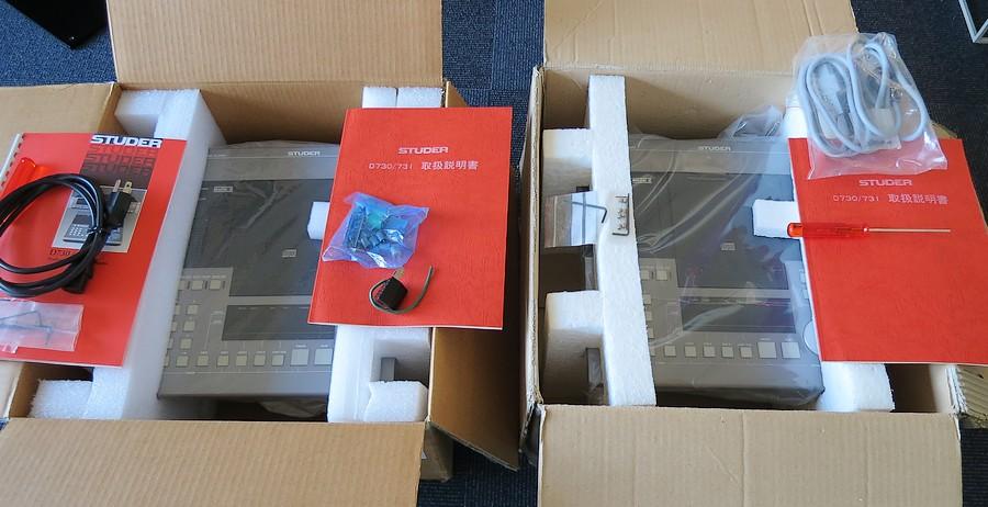 STUDER D730MK2 2台の各パッケージ