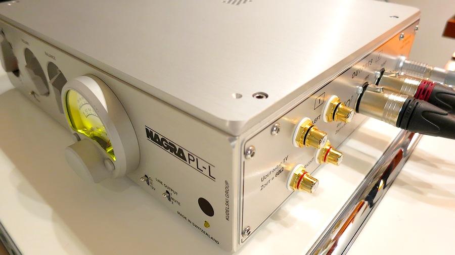 中古 NAGRA PL-L  ラインプリアンプ。付属品:取説、手袋、ケース(布製) 極上ハイエンドコントロールアンプ