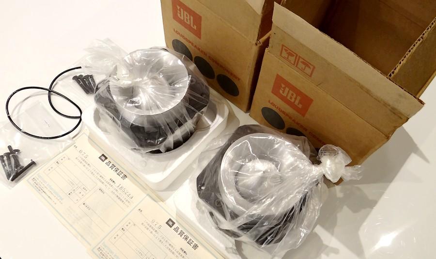 新品 JBL 075 パッキン、取付ネジ、元箱、保証書