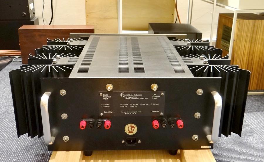 中古ハイエンドオーディオアンプ スピーカー 販売 秋葉原 日本橋 Audio Dripper TOKYO。中古クレル KRELL KSA80 リアパネル
