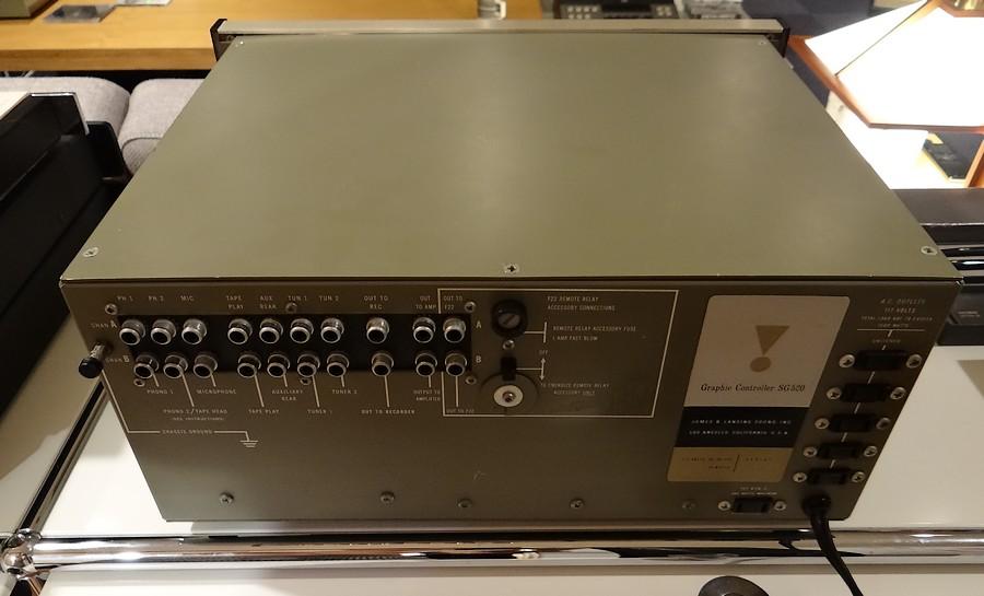 中古プリアンプ。JBL SG520 オリジナル・スライドトーンコントローラ。端子類もオリジナル研磨済