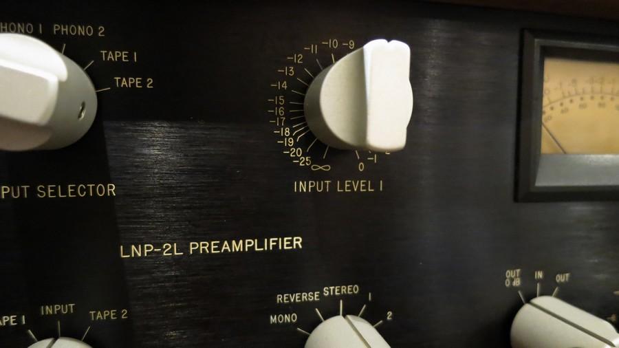 中古オーディオショップ Mark Levinson LNP-2Lのインプットゲイン