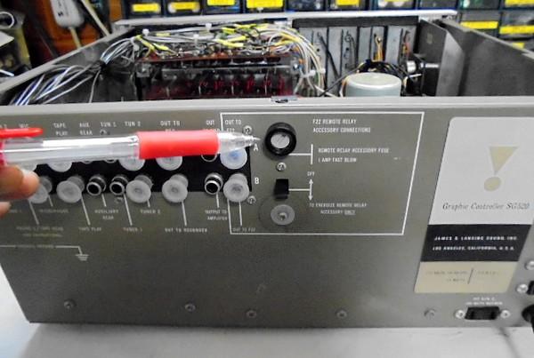 JBL_SG520_後面のヒューズホルダーが新品に変わりました。