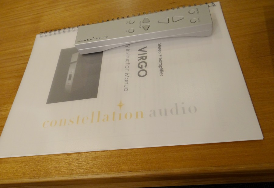 Constellation audio Virgo 付属品