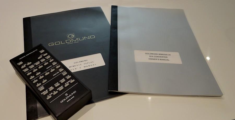 GOLDMUND Mimesis20 DACとMimesis 30+ CDトランスポートのリモコン、取扱説明書