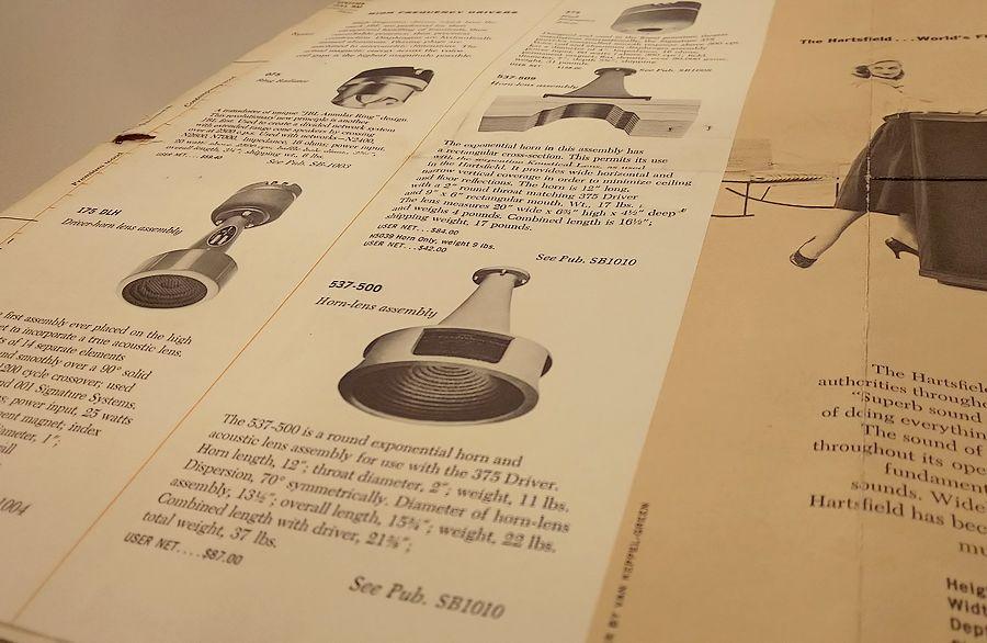 1960年初期のJBLカタログ