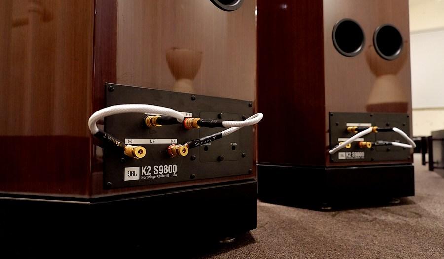 JBL K2 S9800 |中古JBL S9800 ホーンスピーカー|ジャンパーケーブルは純正が付属。