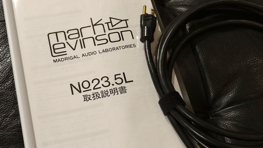 Mark Levinson 23.5L 付属品(マニュアル、純正ACケーブル)