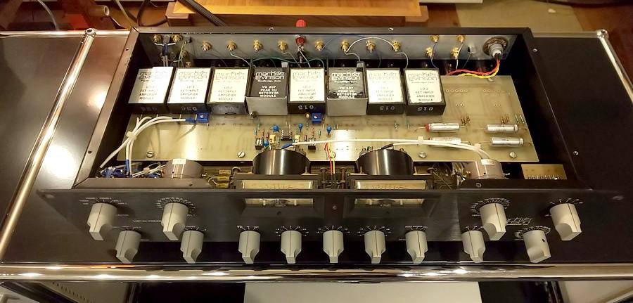 Mark Levinson LNP-2L|カップリングコンデンサーなどもオリジナル部品と同じパーツを交換