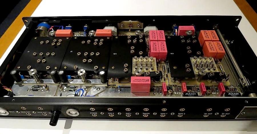 中古 マークレビンソン Mark Levinson Ml7L(MCモジュールL3A)コントロールアンプ 中古。内部メイン基板。