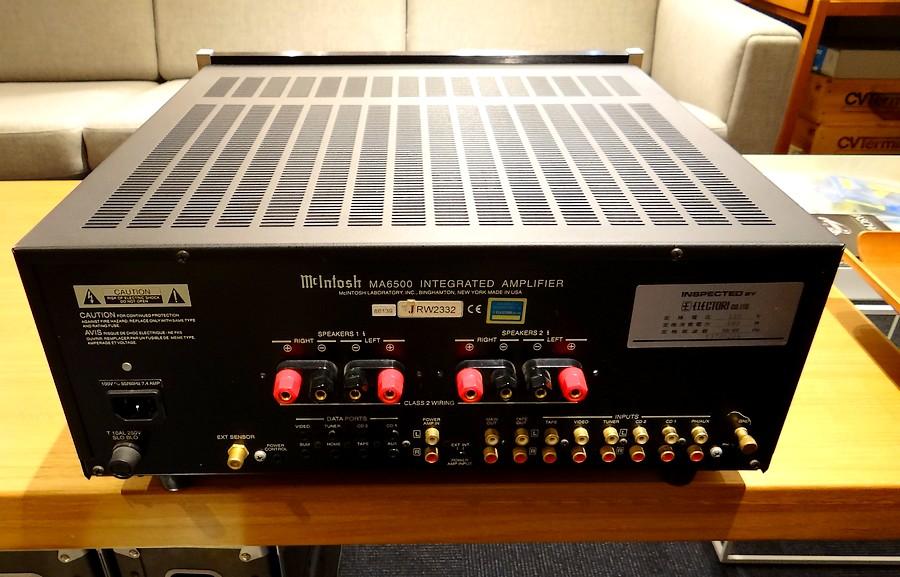 McIntosh MA6500 rear