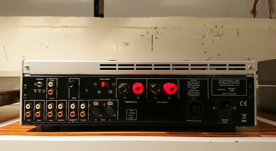 OCTAVE V110 プリアンプやパワーアンプとしても使用可能