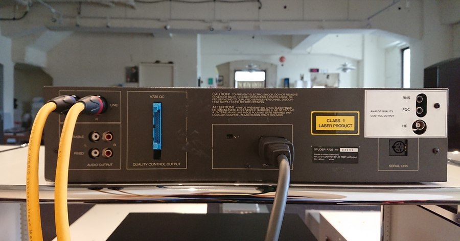 【中古スチューダーCD】STUDER A725 QC フルオーバーホール整備
