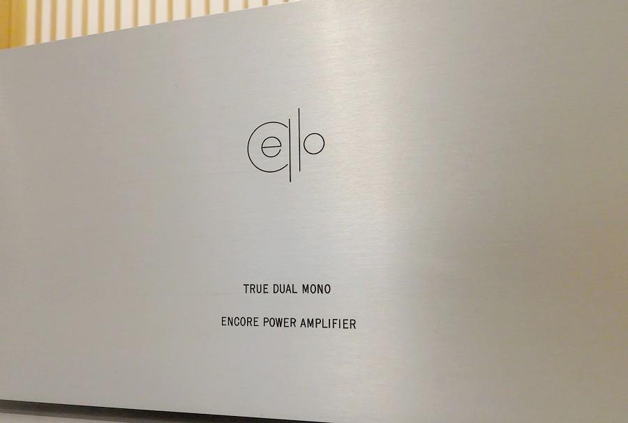 【中古チェロ・パワーアンプ】cello ENCORE dual mono powerリアパネル