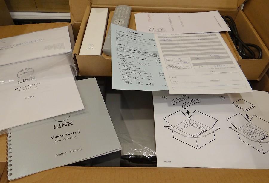 LINN klaimax kontrol se/dps UPグレード版。付属品