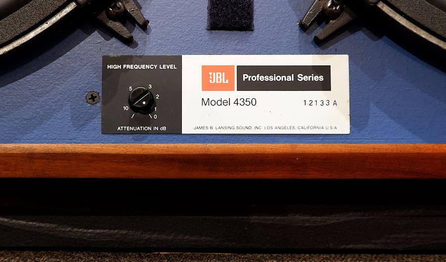 JBL 4350AWXモニター|とても清潔感がある4350です。