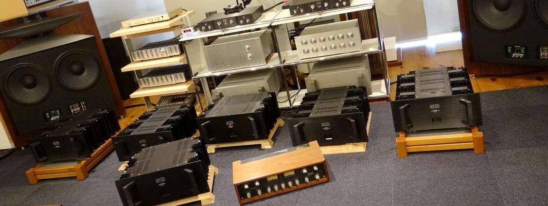 状態の良い中古プリアンプやハイエンド中古パワーアンプの販売、整備やオーバーホール済みアンプ商品が多数です