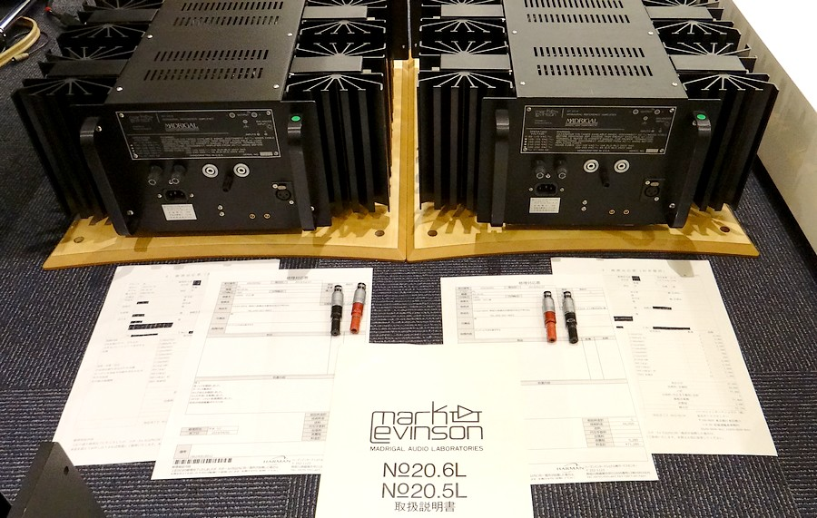 Mark Levinson No.20.6Lモノラルパワーアンプ 整備履歴書、取扱説明書