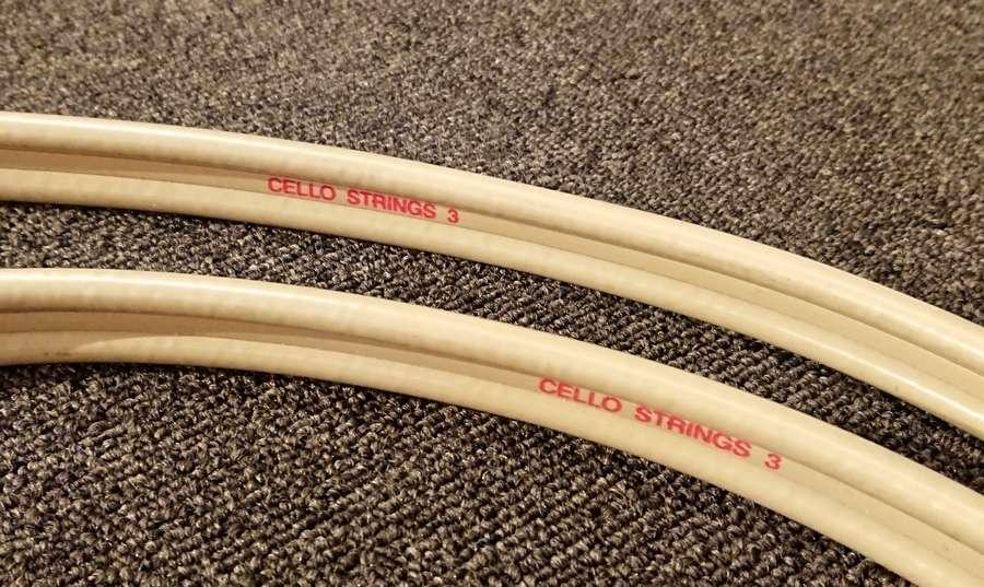 cello strings 3 speaker Cable 中古チェロ・ストリングス3スピーカーケーブル