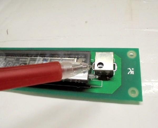 リモコン受光部の劣化パーツも分解整備。