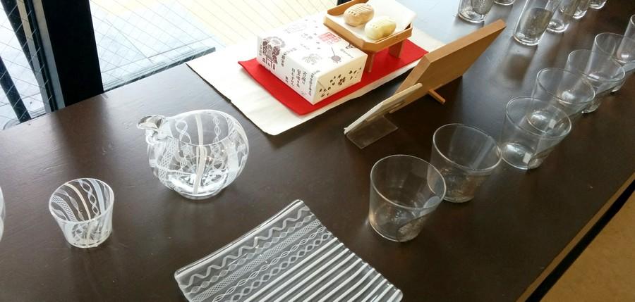 ギャラリーたまき様アキノヨーコ ガラス器展