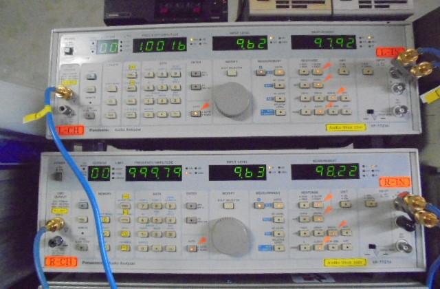 中古マランツの修理 USA_MARANTZ_8約10V=12.5W出力時にS_N比_マイナス98dBと優秀すぎる数字です。