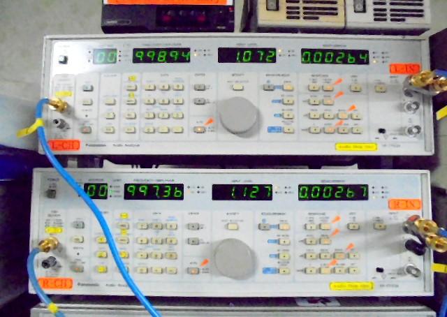 中古レビンソンプリ Mark Levinson ML1Lの通常フル出力時の歪率0_002%台と優秀な成績です。
