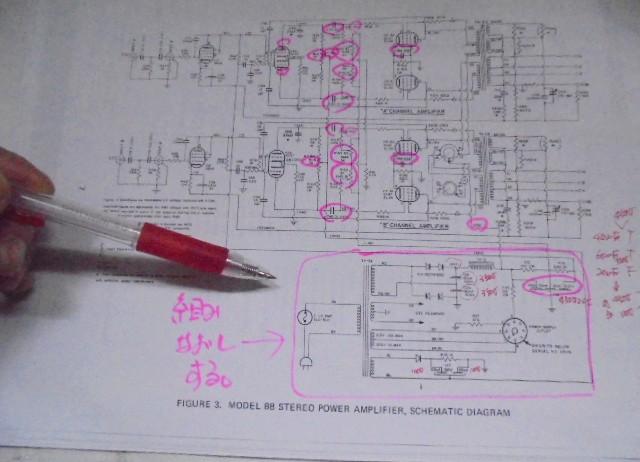 MARANTZ8_回路図の電源部を新しく組みなおす事にした