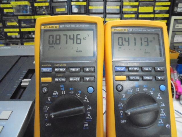 STUDER D730は左右の出力にかなりの違いがあります。