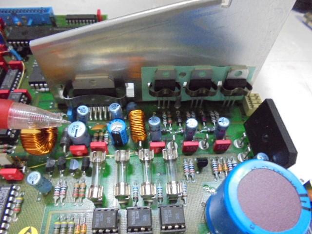 STUDER_A730_電源部アップグレード_電源の小型、中型電解コンデンサーもオリジナル品と同じ新品の現行生産品に交換いたします。