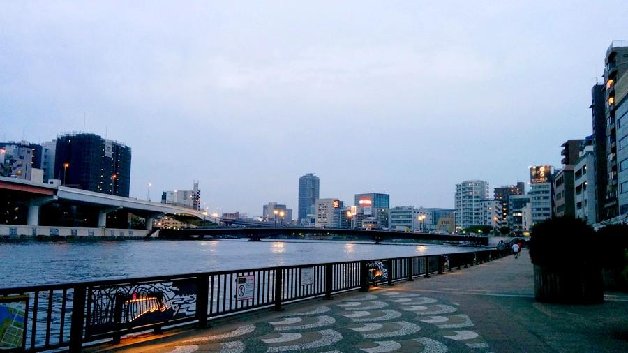 柳橋店から見える隅田川