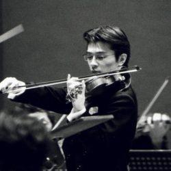 新日本フィルハーモニーオーケストラのコンサートマスター西江辰郎氏が来店