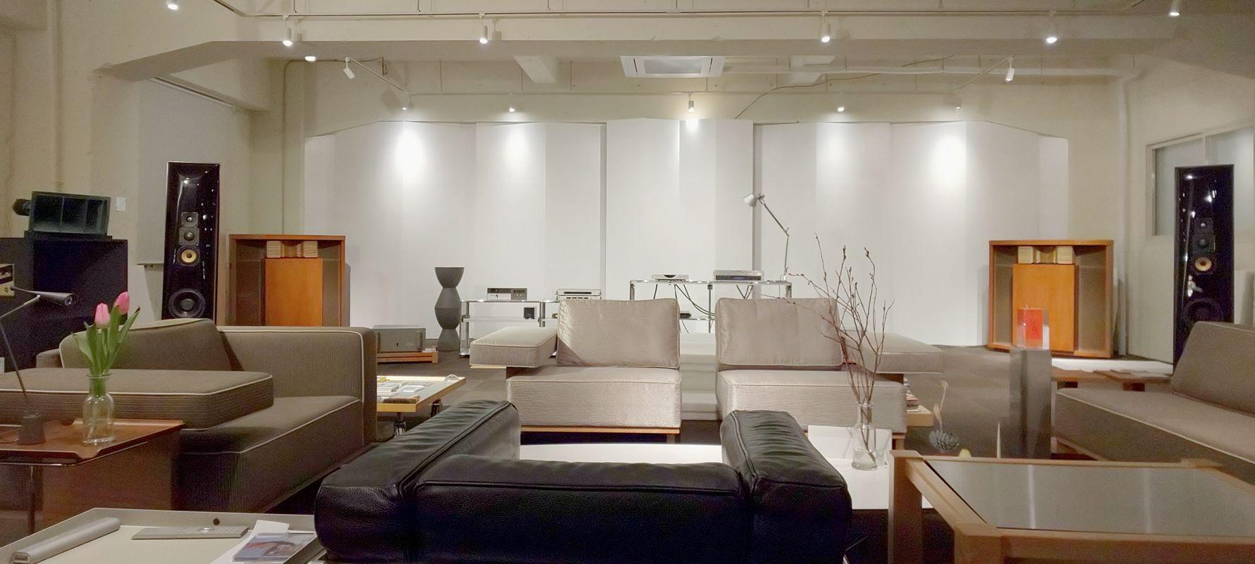 4店舗ある、中古オーディオショップ、充実の視聴室を完備!USED High end AUDIO