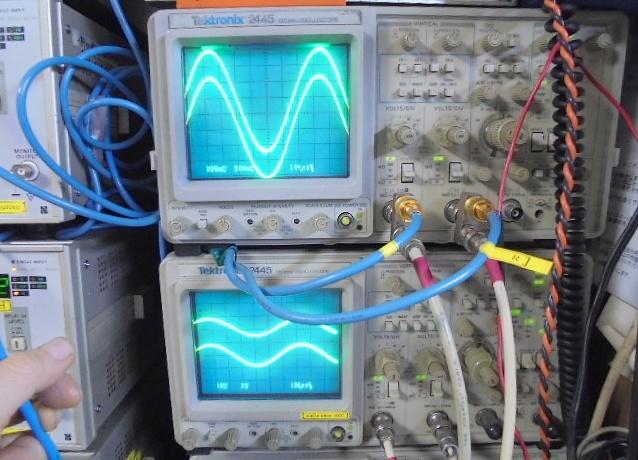 STUDER D730の左右Ch:1kHzの正弦波測定