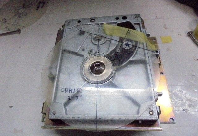 STUDER A727のドライブメカCDM1MK2用のオリジナル冶具