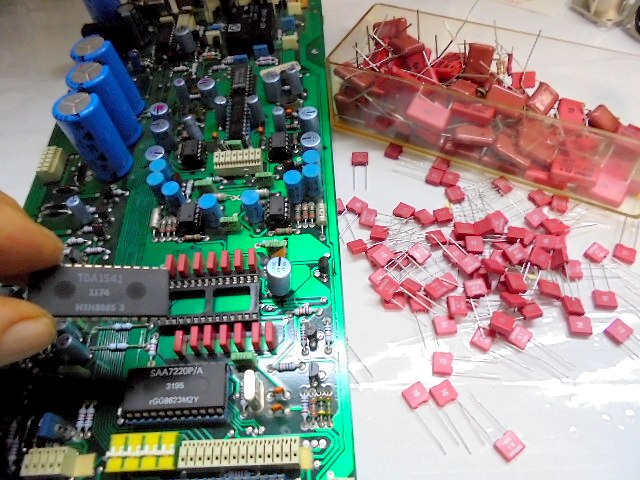 STUDER A727のDAC基盤の劣化部品交換