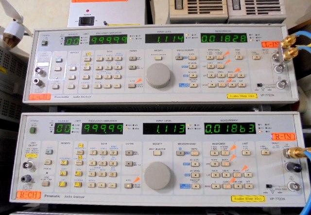 STUDER_A727の1KHz正弦波再生時の歪率:0.01%台と優秀な成績です。
