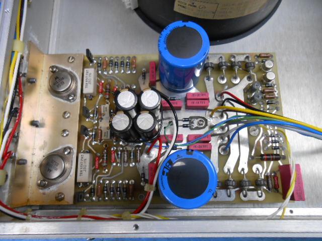 cello AUDIO PALETTE MIVの電源部内部:交換済みの電解コンデンサー