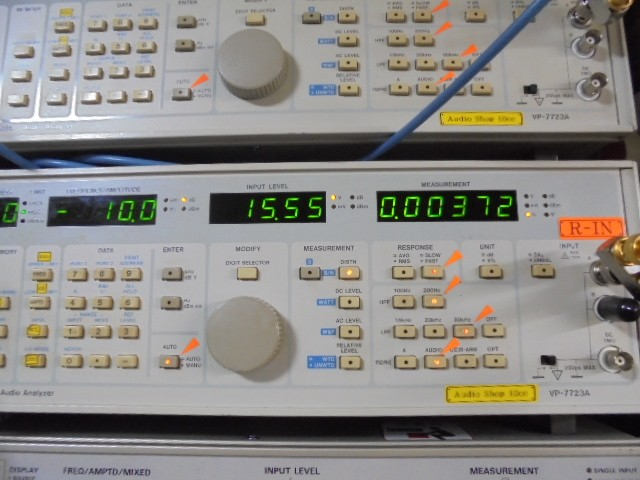 KRELL KMA100 MK2の整備後の歪率