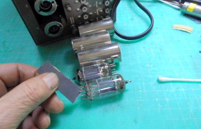 Marantz 7真空管のメンテ|TELEFUNKENのダイヤマーク管