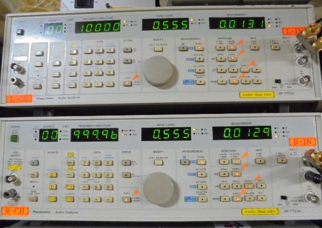 PHILIPS LHH900Rの1kHzの左右CHの歪率0.01%