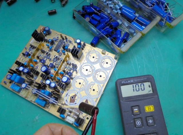 PHILIPS LHH900Rのコンデンサー容量の測定