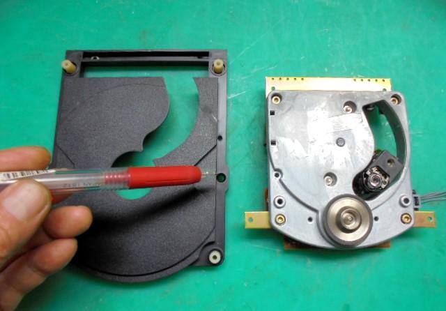 STUDER D730/D70MK2トレイでよく割れる部分