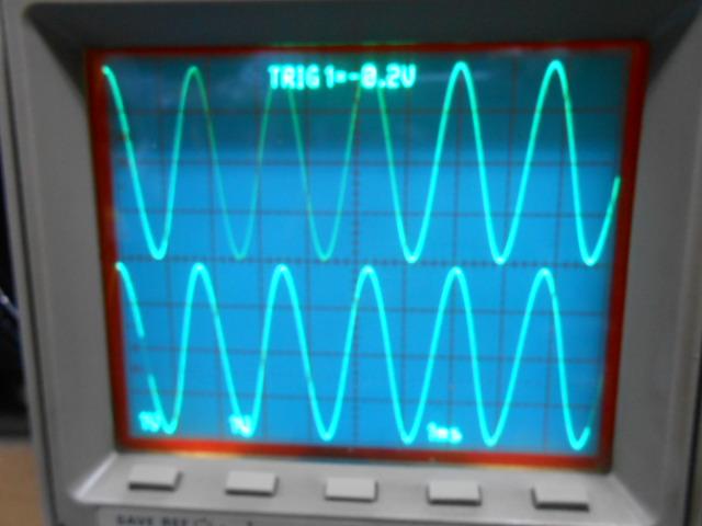 左右CHのスペック点検中|左右の波形も綺麗です