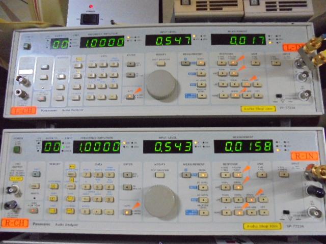 Mclntosh_MCD7005_1KHz_基準信号の歪率0.01%台と優秀な成績です。