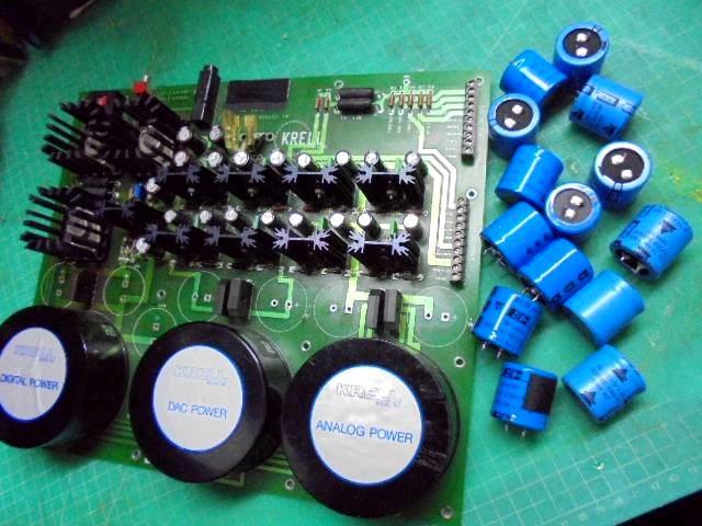 KRELL SBP-64Xの電源部整備|容量抜けしたコンデンサを取り外し